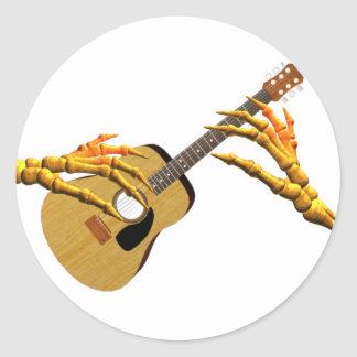 Valxart guitar playing finger pick hands classic round sticker