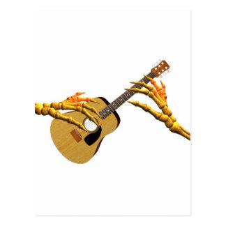 Valxart guitar playing finger pick hands postcard