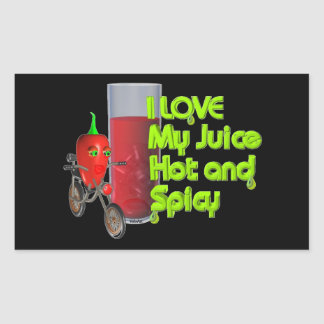 Valxart  I like my juice hot & spicy on 100+ Rectangular Sticker