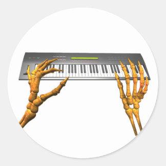 Valxart keyboard hands design classic round sticker