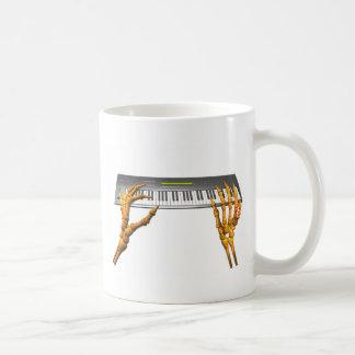 Valxart keyboard hands design coffee mug