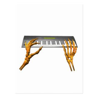 Valxart keyboard hands design postcard
