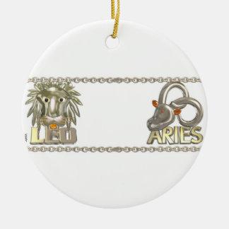 Valxart Leo Aries zodiac astrology friendship Ornament