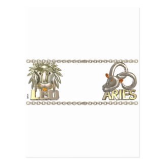 Valxart Leo Aries zodiac friendship gifts Postcard