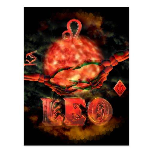 Valxart Leo llevado zodiaco espeluznante Tarjeta Postal
