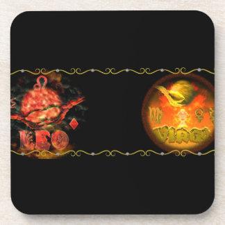 Valxart  Leo Virgo zodiac Cusp or 2 sign Drink Coasters