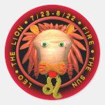 Valxart Leo zodiac Classic Round Sticker