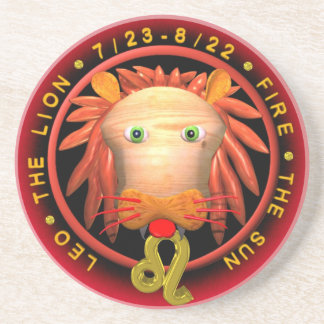 Valxart Leo  zodiac round coaster