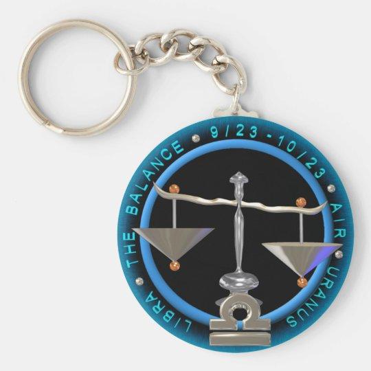 Valxart Libra zodiac logo Keychain