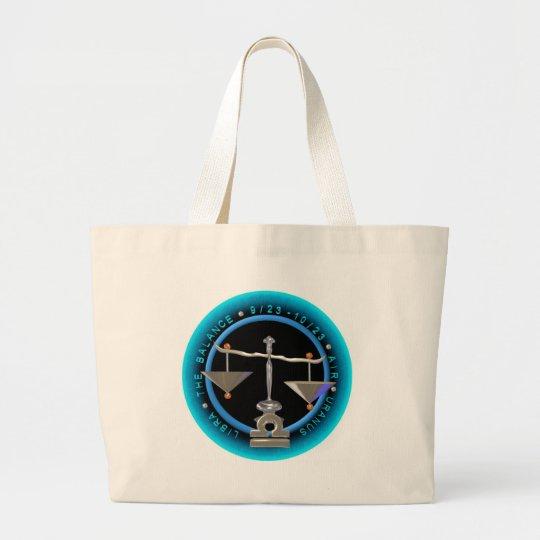 Valxart Libra zodiac logo Large Tote Bag