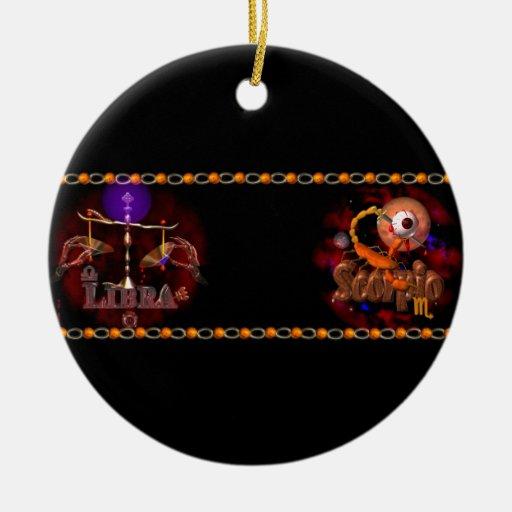 Valxart Licorpo for Libra Scorpio zodiac Cusp Ceramic Ornament