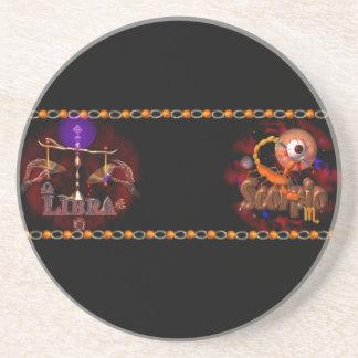 Valxart Licorpo for Libra Scorpio zodiac Cusp Coasters