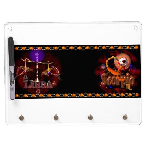 Valxart Licorpo for Libra Scorpio zodiac Cusp Dry-Erase Whiteboard