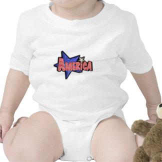 ValxArt los E E U U partiotic AMÉRICA Traje De Bebé