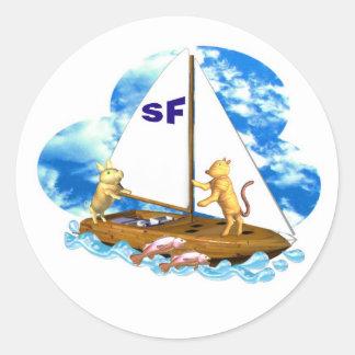 Valxart navega la bahía de San Francisco con los Etiqueta Redonda