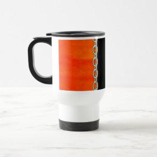 Valxart Orange Pumpkin chain abstract Travel Mug