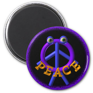 Valxart Peace man is funnier than war 2 Inch Round Magnet