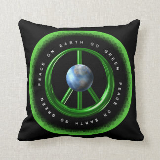 Valxart Peace on Earth Go Green on 100+ products Pillow