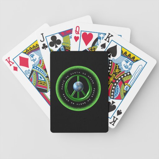 Valxart Peace on Earth  Go Green on 100+ products Card Deck