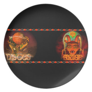 Valxart Pisces Aries zodiac Cusp or 2 sign Plate