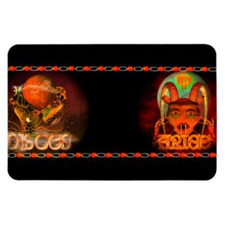Valxart Pisces Aries zodiac Cusp or 2 sign Rectangular Photo Magnet
