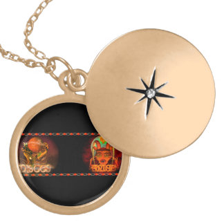 Valxart Pisces Aries zodiac Cusp or 2 sign Round Locket Necklace