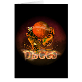Valxart Pisces creepy zodiac astrology horoscope Greeting Cards
