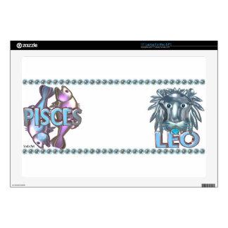 "Valxart Pisces Leo astrology friendship 17"" Laptop Decal"