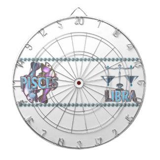 Valxart Pisces Libra zodiac friendship Dart Board