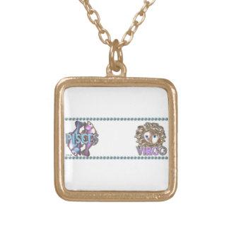 Valxart Pisces Virgo zodiac friendship Personalized Necklace