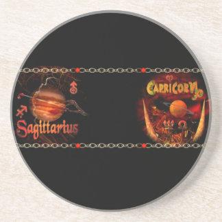 Valxart Sagicorn Scorpio Sagittarius zodiac Cusp Beverage Coaster