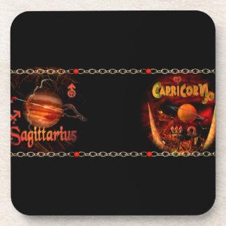 Valxart Sagicorn Scorpio Sagittarius zodiac Cusp Drink Coaster
