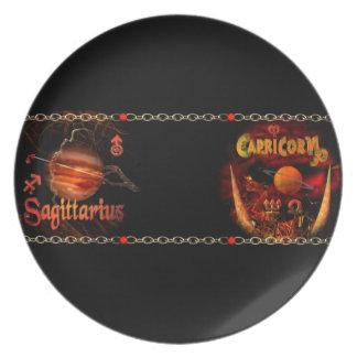 Valxart Sagicorn Scorpio Sagittarius zodiac Cusp Dinner Plate