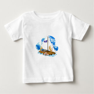 Valxart sails the bay of San Francisco with fishes Baby T-Shirt