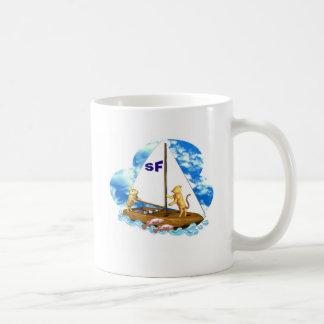 Valxart sails the bay of San Francisco with fishes Coffee Mug