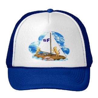 Valxart sails the bay of San Francisco with fishes Mesh Hats