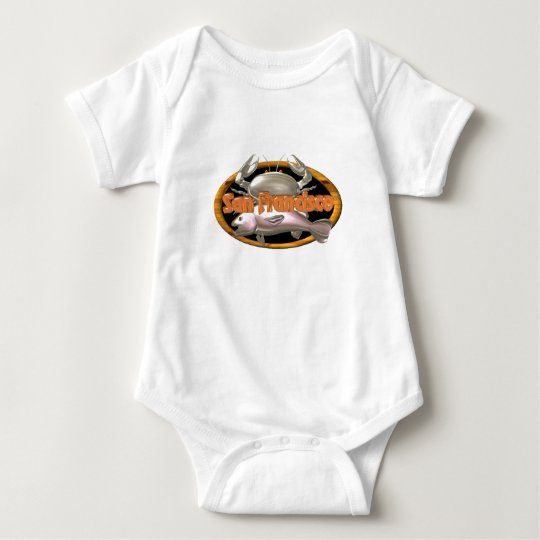 Valxart San Francisco crab fish gifts Baby Bodysuit