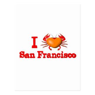 Valxart San Francisco events  crab designs Postcard