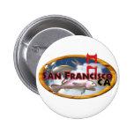 Valxart San Francisco personalized gifts Pinback Button