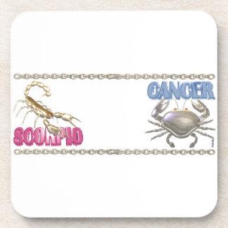 Valxart Scorpio Cancer zodiac friendship Coaster