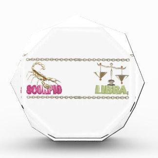 Valxart Scorpio Libra zodiac friendship Acrylic Award