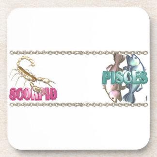 Valxart Scorpio Pisces zodiac friendship Beverage Coaster