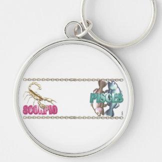 Valxart Scorpio Pisces zodiac friendship Keychain