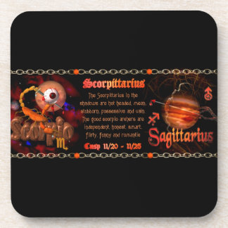 Valxart Scorpio Sagittarius zodiac Cusp Drink Coaster