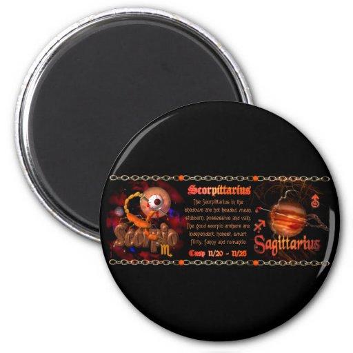 Valxart Scorpio Sagittarius zodiac Cusp Refrigerator Magnets