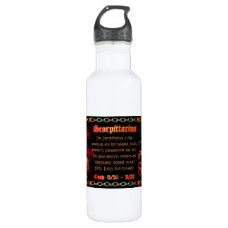 Valxart Scorpio Sagittarius zodiac Cusp 24oz Water Bottle
