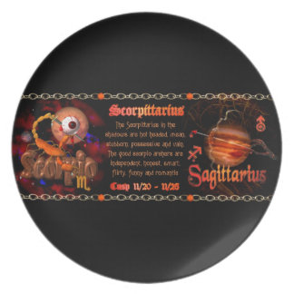 Valxart Scorpio Sagittarius zodiac Cusp Dinner Plate