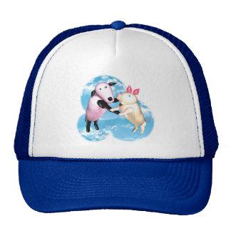 Valxart sheep and pig dance in the barnyard hats