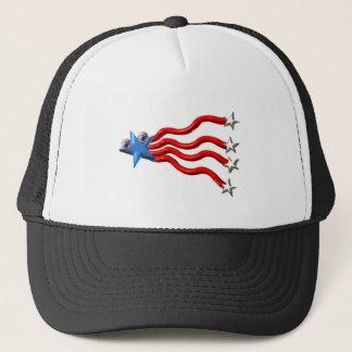 Valxart shooting star with cute eyes trucker hat