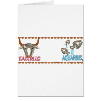 Valxart Taurus Aquarius astrology friendship Card